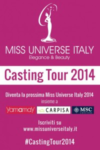 Locandina Concorso Miss Universe Italy Yamamay