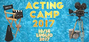 GRAFICA SMALL ACTING CAMP 10 14 Luglio 2017