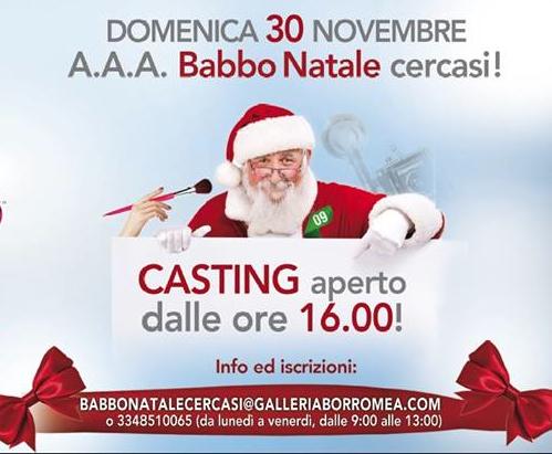Babbo Natale cercasi alla Galleria Borromea, a Milano