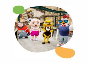 mascotte parco Luna Farm